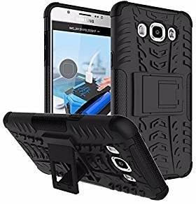 new styles 60225 fbcdf Suvice Military Grade Armor Kickstand Cover For Samsung Galaxy J2 Back  Cover in Black Colour