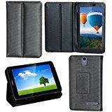 Zaoma Diary Stand Flip Flap Case Cover For IBall Slide 7236 2G Stand Flip Case Cover Black