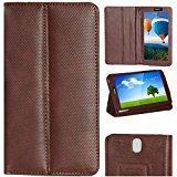 Zaoma Diary Stand Flip Flap Case Cover For IBall Slide 7236 2G Stand Flip Case Cover Brown