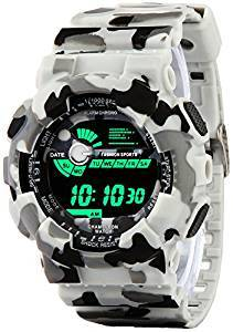 4c5e0edaaed Addic Multicolor Dial Army White Strap Digital sports Watch For Men s   Boys .