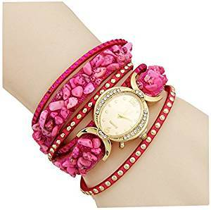 729cb3479 AELO Multiband Pink Bracelet Watch For Girls & Women UWW2021 Price in India  - Fetched 3rd August 2019 from Prominent Stores | PriceHunt