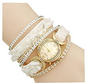 6fc87097e AELO Multiband White Bracelet Watch For Girls & Women Price in India -  Browse prices on 3rd August 2019 | PriceHunt