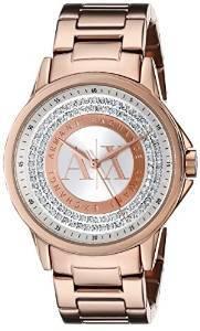 739273d828e Armani Exchange Lady Banks Analog Rose Gold Dial Women's Watch AX4322