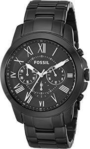 Fossil Grant Chronograph Analog Black Dial Men s Watch FS4832 Price -  Latest prices in India on 14th March 2019  076f184196