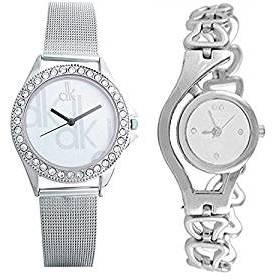 3636092170cb Maan International White Dial Silver Analog Watch Combo For Woman s   Girls  Pack Of 2 Price in India - Browse prices on 22nd May 2019