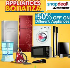 snapdeal upto 50% off on Appliances